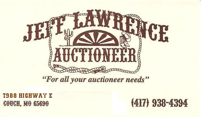 Jeff Lawrence Auctioneer For all your Auctioneer Needs